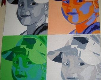 Custom Color Block Painting