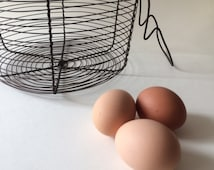 Eggs or salad BASKET | Iron wire BASKET | salad SPINNER | Vintage antique rustic countryside french basket | 1960'
