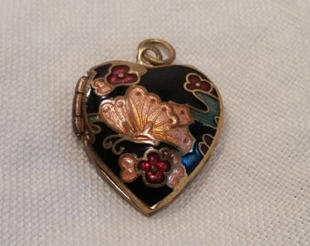 Pretty Vintage Blue Cloisonne Locket