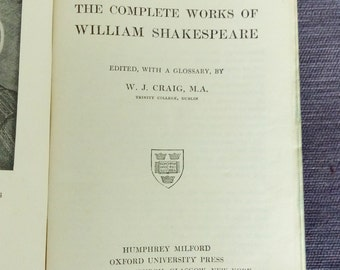 The complete works of William Shakespeare 1916