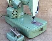Vintage 1950's Singer Sewing Machine in Jadite Green
