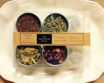 Tea for Two, Akron House Loose Leaf Herbal Variety Pack
