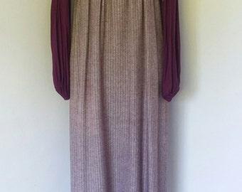 "36"" Bust Vintage 60's 70's Mod Maxi Dress"