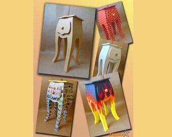 Tutorial para hacer un mueble en cartón, plantillas de cartón, mesita para decorar
