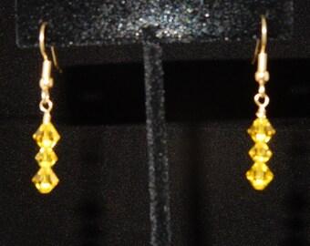 Swarovski Citrine Drop Earrings