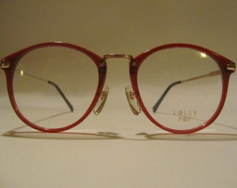 Vintage glasses frame mod Hand Made Lolly Pop C 07 54 18 BU new new years 90
