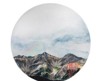 Colorado Mountains Print || Art Print, Art Decor, Mountain Decor, Mountain Painting, Rainbow, Boho