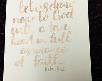 Handlettered Bible Verse