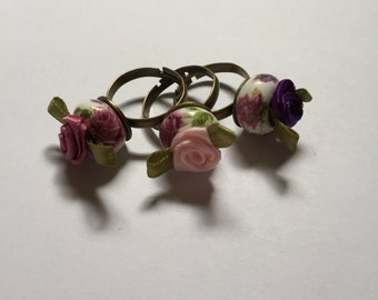 Adjustable Flower Rings