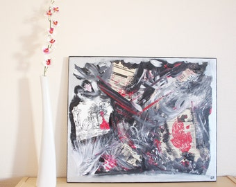 Table Art Original abstract acrylic contemporary modern Abstract Painting 55x46cm painting