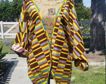 Kente Print Kimono