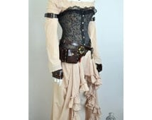 Steampunk pirate costume (clothes only, custom size)