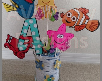 Finding Dory,Nemo Birthday Party Decoration Centerpiece