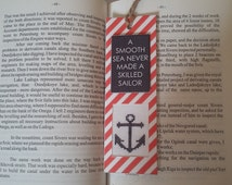 "Bookmark. Bookmark embroidered cross-stich. Bookmark ""Anchor"". Bookmark embroidered cross-stich ""Anchor"""