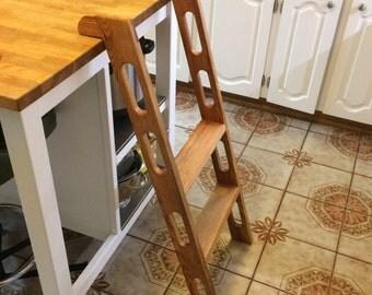 Custom Oak Kitchen ladder