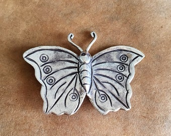 Thai Hill Tribe Silver Butterfly  (Item #P62)