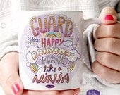 Awesome Mug, Unicorn Mug, Motivational Mug, Inspirational Mug, Positive Vibes Only, Good Vibes, Happy Place, Rainbow Mug, Happy Place,