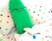 Giant Pickle Body Pillow - Monster Plush Cucumber Cushion