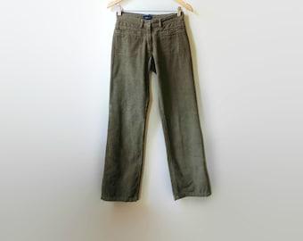 Brown Corduroy Pants, 90s Clothes, Womens Pants, Corduroy Jeans, Long Pants, Vintage Jeans, Brown Trousers, 90s Pants, Size US 10 Women