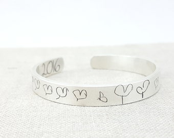 Personalized Bracelet - Mom Gift - Handwriting Jewelry - Kids Art Jewelry - Personalized Memorial Jewelry - Handwriting