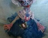 One of a kind sugar skull doll