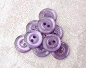 Pastel Purple Buttons 15mm - 5/8 inch Lavender Purple Luminescent Sewing Buttons - 9 VTG NOS Purple Plastic Sew Through Buttons PL539 bb