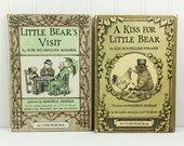 A Kiss For Little Bear and Little Bear's Visit by Elise Holemlund Minarik, Maurice Sendak, 1960s I CAN READ