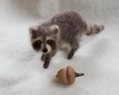 Raccoon Needle Felted