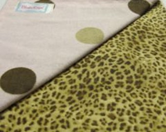 Leopard Dot - Flannel Lined Blankie