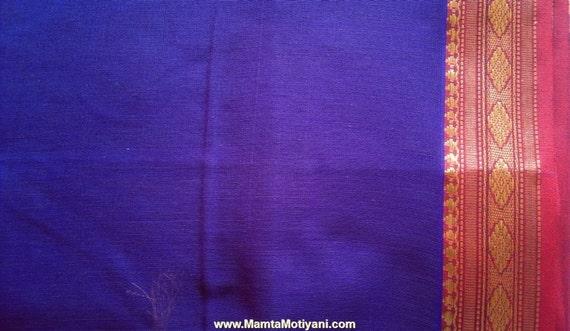 lila ilkal sari stoff indische baumwolle polyester gewebe von. Black Bedroom Furniture Sets. Home Design Ideas