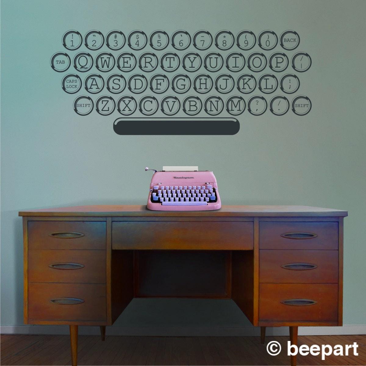 vintage typewriter vinyl wall decal office writer