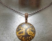 Etched Copper Tree of Life Necklace