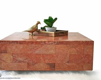Unsigned Italian Marble Floating Cube Coffee Table - FREE SHIPPING - Payment Plan Available!