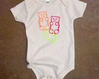 Gummy Bear Baby Onesie - Screenprint Tee