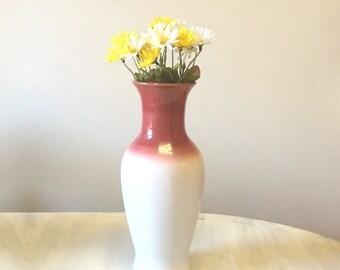 Ombre West German vase, West German pottery, large pottery vase, ceramic flower holder, china flower vase, terracotta vase, ceramic vase