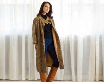 1950's Wool Coat - Vintage 50s Mohair Coat - Directional Mohair Coat