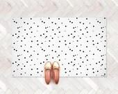 Dots Rug / Minimalist Kids Room / Decorative Floor Rug / Baby Mat   PVC Rug   Kids Decor / Monochrome Nursery / Black and White Room