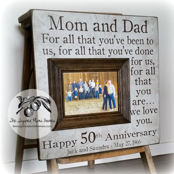 Gift Ideas For 50th Wedding Anniversary For Parents: 50 Anniversary Gifts Parents Anniversary Gift For All That
