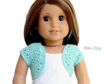 "Download Now - CROCHET PATTERN 18"" Doll Crochet Shrug Pattern"