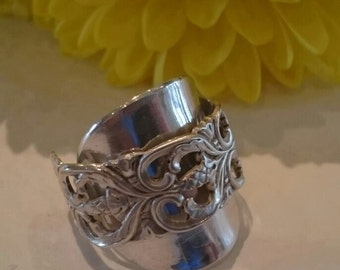 Limited - Spoon Ring - Recycled Vintage Norwegian Decorative silver teaspoon to stunning ring.