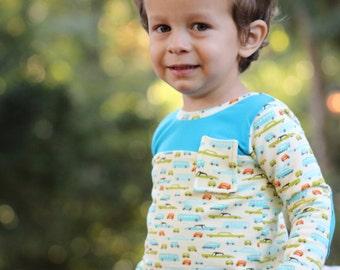 Pistachio Tee PDF Pattern sizes 12m-8, Knit Tee Pattern, Tshirt Pattern, Peplum Shirt, Boy Shirt Pattern