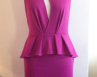 Ponte Knit Dress - Fuchsia