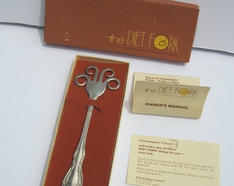 Silverplate Diet Fork - Funny Gift for Dieting Friend - Weight Control Utensil - 1977 Christopher's Hand Original