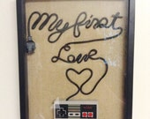 Reserved for Niki: Nintendo NES Wall Art Shadow Box - My First Love Fancy Writing