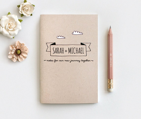 Wedding Gift Sets For Couples : Wedding Gift Personalized Notebook & Pencil Set1st Anniversary Gift ...