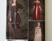 Renaissance Costume Pattern Simplicity 1773 Womens Off Shoulder Formal Evening Dress Sewing Pattern Misses Size 6-14 Bust 30.5-36 UNCUT