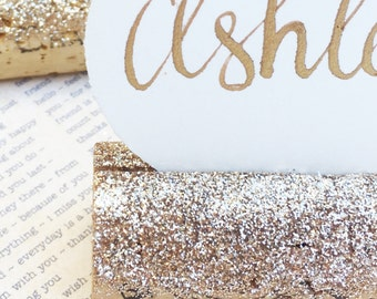 Champagne Gold Place Card Holder, Holiday Table Decorations, Wine Tasting Party, Wedding Name Card Holders, Wine Themed Gifts, Wine Theme