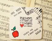 Ka Wai Chung's Order for Music School Teacher Coaster, Music Teacher Gift, Personalized Music Teacher, Teacher Appreciation, Thank a Teacher