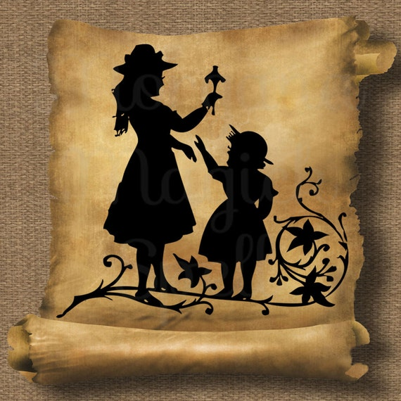 Fairy Tale  Silhouette Royalty Free Clipart