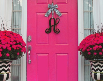 Monogram Christmas Wreath -  Initial Door Wreath -  Monogram Gift -